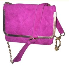 Essentiel Antwerp quilted suede bag NWT pink Fuschia pink suede quilted bag Essentiel Antwerp Bags Shoulder Bags