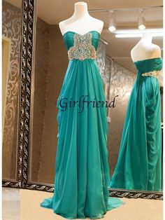 Charming strapless chiffon prom dress from Girlfriend #coniefox #2016prom