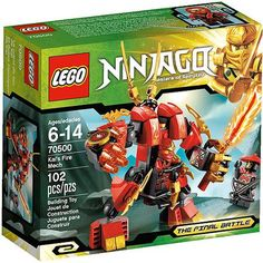 LEGO Ninjago Kais Fire Mech 70500 (Discontinued by manufacturer) Lego Ninjago Lloyd, Ninjago Kai, Legos, Minions, Lego Toys, Lego Projects, Lego City, Building Toys, Kids Playing