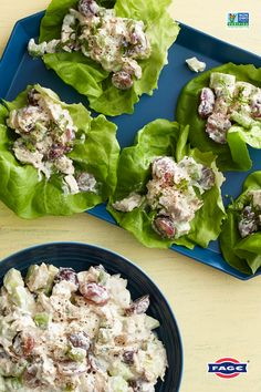 Let-us enjoy this healthier take on a lunch staple: chicken salad lettuce wraps made with FAGE Total Greek yogurt. Greek Yogurt Chicken Salad, Greek Yogurt Recipes, Healthy Recipes, Easy Recipes, Healthy Food, Chicken Salad Recipes, Lettuce Wraps, Quick Easy Meals, Lunch