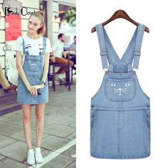 Europe Summer Dress 2016 Denim Straight Solid Sleeveless Strap Vestidos Women Mini Jeans Dresses Square Collar Slim Girl's Dress