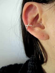 Bague d'oreille croisée  faux piercing  bijou féminin par Mixmania