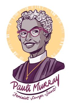 "Pauli Murray was a civil and women's rights activist. She coined the term ""Jane Crow"" to designate the was race and gender intersected to oppress black women. Some call her the queer foremother of intersectionality. Murray co-founded the National Organization for Women in 1966 and as well was a civil rights attorney and educator. In the late 1970s, she left academia to become an episcopal priest. Later she would be raised to Holy Men, Holy Women of the church (sainted)."