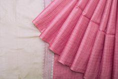 Handwoven Tussar Silk Sari with Kasuti Embroidery 1028800 - Saris / All Saris - Parisera
