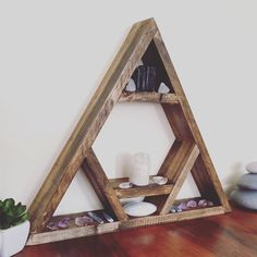 Hung on the wall or laid flat this beautiful handmade altar is a worthy home for our treasures ❤