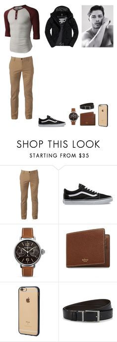 """""""Sem título #55"""" by martaalmeida-i on Polyvore featuring LE3NO, Urban Pipeline, Vans, Bell & Ross, Mulberry, Incase, HUGO, Superdry, men's fashion e menswear"""