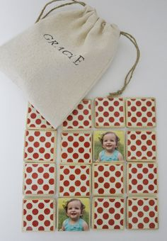 Instagram Toy / Wooden Matching Game-Personalized Game-Stocking Stuffer by BurlapAndBlue