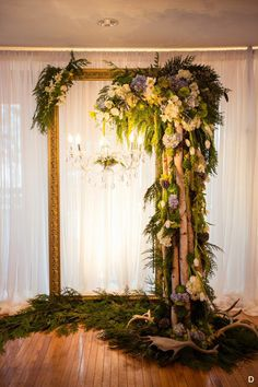 20 Ideas wedding table flowers white backdrops for 2019 White Backdrop, Flower Backdrop, Ceremony Backdrop, Ceremony Decorations, Wedding Ceremony, Wedding Arches, Backdrop Wedding, Flower Chandelier, White Chandelier