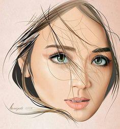 Kathryn Bernardo Filipina Actress, Filipina Beauty, Kathryn Bernardo Photoshoot, Caricature, Angel Locsin, Daniel Padilla, Star Magic, Photo Sketch, Fashion Pictures