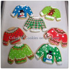 """ Ugly Sweater "" cookies"