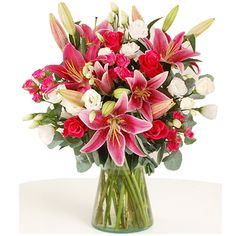 uk Flowers - Rose & Lily Bouquet