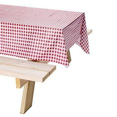 camping isn't camping without a red and white checkered table cloth.