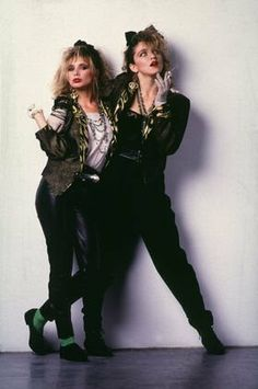 """Madonna and Rosanna Arquette by Herb Ritts in """"Desperately Seeking Susan"""" (1985)."""
