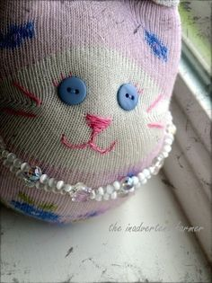A Sock Kitty!  •  Free tutorial with pictures on how to make a cat plushie in under 60 minutes