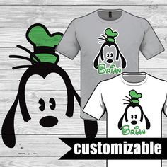 Disney Goofy Iron On Transfer Printable download by DuckyDigital