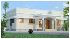 [ Contemporary House Plans Designs Small House Plans Kerala Home Design Kerala Style Single Floor House Plan Square Meters Sq Ft ] - Best Free Home Design Idea & Inspiration Single Floor House Design, Simple House Design, House Front Design, Modern House Design, Deck Design, Village House Design, Kerala House Design, Bungalow House Design, Small Modern House Plans