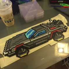 Delorean Back to the Future perler beads by seriouslyleroy