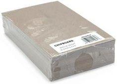 """Chipboard Sheets (Medium Weight/Natural) - 4""""x6"""" 25/Pkg"""