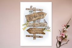 The Wedding Sign Says by Becky Nimoy at minted.com This is my favorite! I say yes to this one!