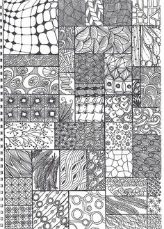 zentangle pattern sheet