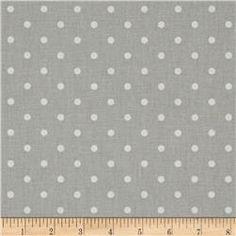 Premier Prints Mini Dot French Grey/White