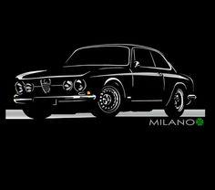 Alfa Romeo Junior T Shirt GT 2000 Giullia Veloce GTV Classic  S - 5XL + Langarm
