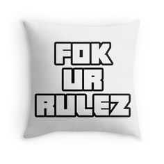 FOK UR RULEZ - Song Quote - Donker Mag - Die Antwoord - Ninja - Yolandi - Dope - Fresh - T shirts - Merchandise - Stickers - Prints - Art
