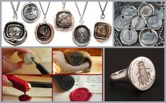 EDIT: Wax seals tutorial and jewelry to go a long with my ragehaus reblog of how to make a sealing wax stamp here. If you know how to make polymer clay molds (here is a good tutorial by stone brash...