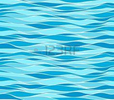 Seamless pattern delle onde marine Archivio Fotografico