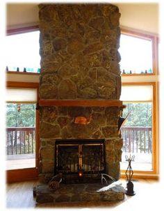 # 16 stone fireplace