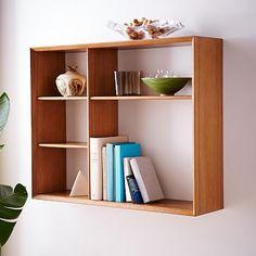 "30""w x 8""d x 24""h.  $169  Mid-Century Display Shelf"