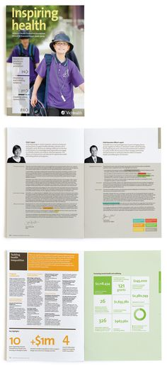 looks like windows 8 + corporate / annual report Graphic Design Layouts, Graphic Design Typography, Brochure Design, Layout Design, Branding Design, Web Layout, Annual Report Layout, Annual Report Covers, Annual Reports
