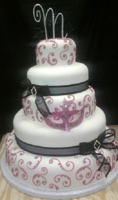 masquerade+cakes+designs | Photo Gallery - Photo Of Masquerade Party Cake