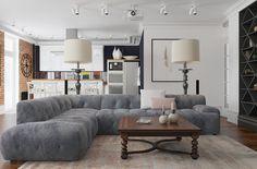 Фотография: Гостиная в стиле Эклектика, Лофт, Квартира, Дома и квартиры – фото…