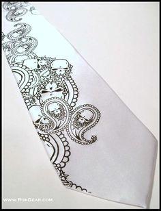 paisley skull wedding necktie ties groom groomsmen, love this!!