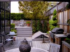 Nice terrace for chillin'.