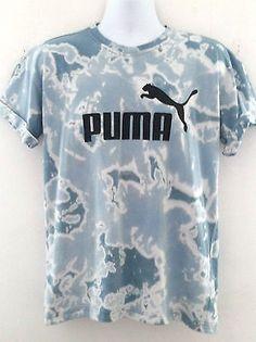 Acid Wash Retro Puma Sports  T shirt