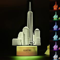 AXAYINC Empire State Building 3D LED Night light Touch Swift Table Desk Lamp - $17.10. Store category Sign Up Now ! You may also like AXAYINC Empire State Building 3D LED Night light Touch Swift Table Desk Lamp Product Description We are owner of AXAYINC brand, and our main business is providing 3D Lamps and 3D Crystal Balls. We have more than 1200 styles up to now.1. + color changing LED lamp - ideal for home decor, as night lamp, decor item or a kids toy.2. + 7 different color modes - 6…