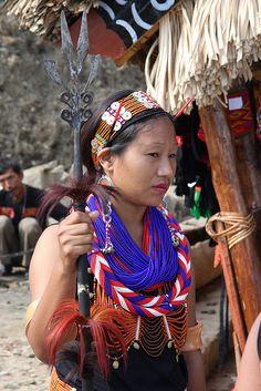 **Konyak queen of Nagaland, North East India.