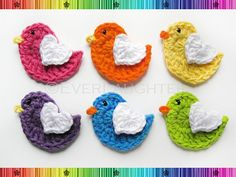 PATTERN-Crochet Bird with Heart Wing Applique-Detailed Photos via Etsy