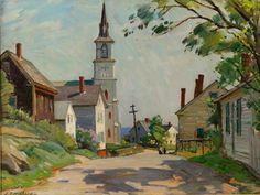 """""""Rockport Scene,"""" Aldro Hibbard, oil on board, 19 x 24 1/2"""", private collection."""