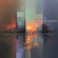 Abstract Landscape Paintings Capture Energetic Cityscapes And even more artwork I love Abstract Landscape Painting, Landscape Art, Landscape Paintings, Abstract Art, Abstract Paintings, Sunset Landscape, Portrait Paintings, Art Paintings, Watercolor Paintings