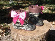 Baby Girl shoes  Camo baby boots baby slippers baby by Tooksberry, $24.50