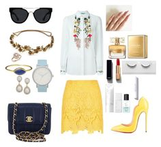 """""""Manhattan summer"""" by nominjiguur on Polyvore featuring River Island, Blumarine, Christian Louboutin, Chanel, Quay, Jennifer Behr, Bloomingdale's, The Horse, Givenchy and NARS Cosmetics"""