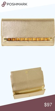 ... Hallak Cleaners Wedding Services. LILLY PULITZER BAMBOO CLUTCH - NWT!  SOLD OUT ONLINE! Gold Split Shrunken Leather Clutch e650ab634ee1d