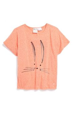 Roxy 'Bunny Hop' Graphic Tee (Toddler Girls, Little Girls & Big Girls) available at #Nordstrom