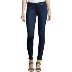 Paige Verdugo Ultra Skinny Ankle Jeans ($119) ❤ liked on Polyvore featuring jeans, hugo, skinny jeans, blue jeans, paige denim, super skinny jeans and zipper jeans