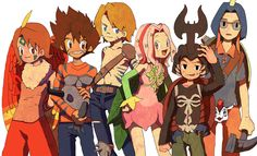 Last time's Digidestined dressed as their Digimon partners !!