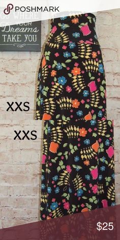 ***CLEARANCE*** Lularoe maxi skirt XXS Tried to make this maxi skirt work for me but just couldn't. (I'm 5'0) EUC - worn twice and washed per Lularoe standards. XXS LuLaRoe Skirts Maxi