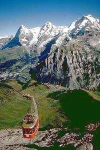 Murren Switzerland  This place was amazing in summer, so I can only imagine what it would be like in winter.